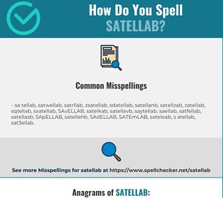 Correct spelling for SATELLAB