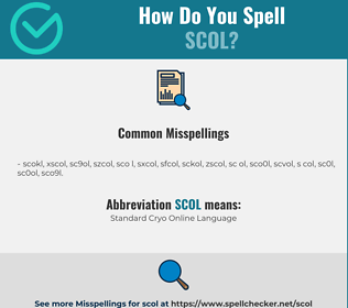 Correct spelling for SCOL