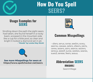 Correct spelling for SEERS