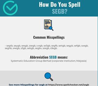 Correct spelling for SEGB