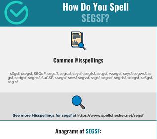 Correct spelling for SEGSF