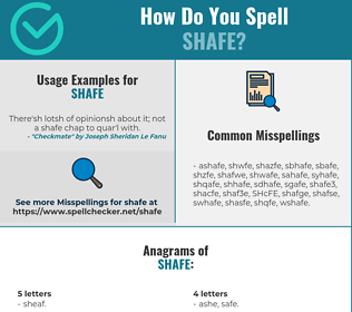 Correct spelling for SHAFE