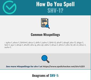 Correct spelling for SHV-1