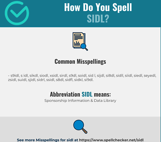 Correct spelling for SIDL