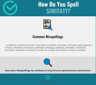 Correct spelling for SIMITATT