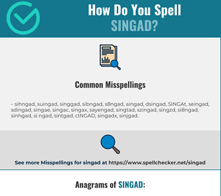 Correct spelling for SINGAD