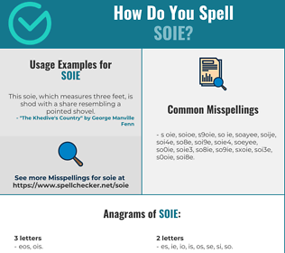 Correct spelling for SOIE