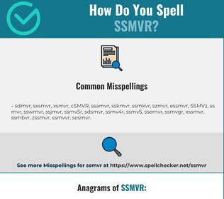 Correct spelling for SSMVR