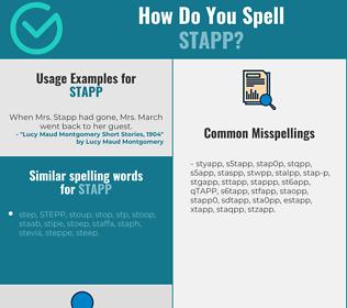 Correct spelling for STAPP
