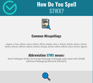 Correct spelling for STWX