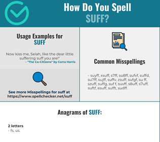 Correct spelling for SUFF