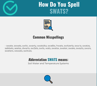 Correct spelling for SWATS