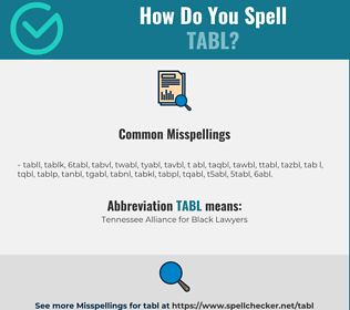 Correct spelling for TABL