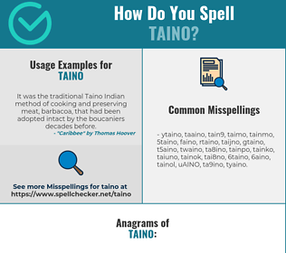 Correct spelling for TAINO