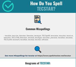 Correct spelling for TECSTAR