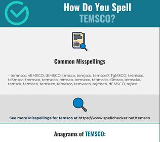 Correct spelling for TEMSCO