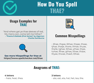Correct spelling for THAE