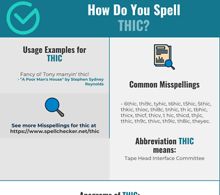 Correct spelling for THIC