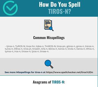 Correct spelling for TIROS-N