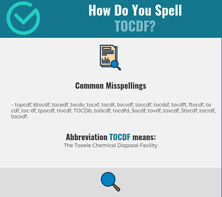 Correct spelling for TOCDF