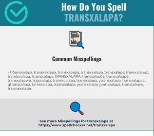 Correct spelling for TRANSXALAPA