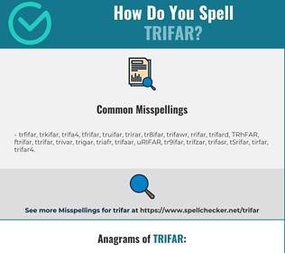Correct spelling for TRIFAR