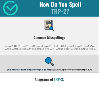Correct spelling for TRP-2