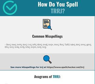Correct spelling for TRRJ