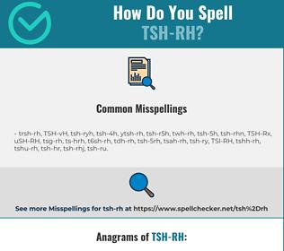 Correct spelling for TSH-RH
