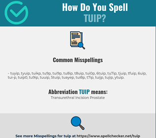 Correct spelling for TUIP