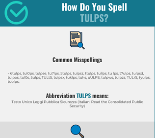 Correct spelling for TULPS