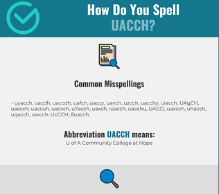 Correct spelling for UACCH