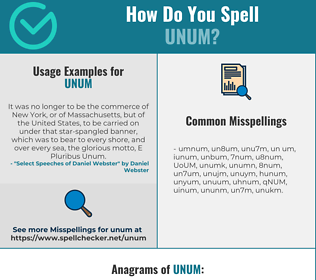 Correct spelling for UNUM