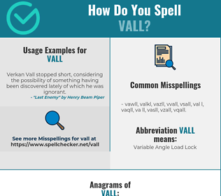 Correct spelling for VALL