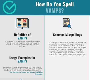 Correct spelling for VAMPS