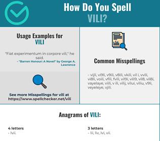 Correct spelling for VILI