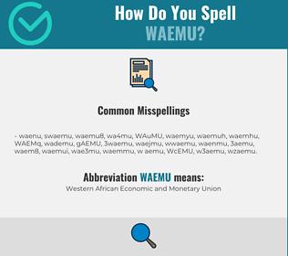 Correct spelling for WAEMU