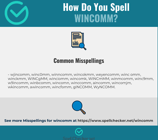Correct spelling for WINCOMM