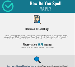 Correct spelling for YAPL