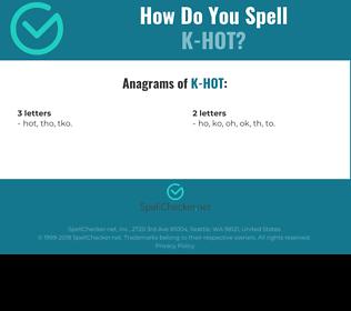 Correct spelling for K-HOT