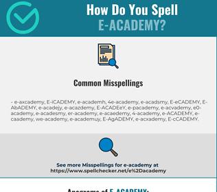 Correct spelling for E-ACADEMY