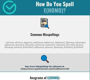 Correct spelling for E(HOMO)