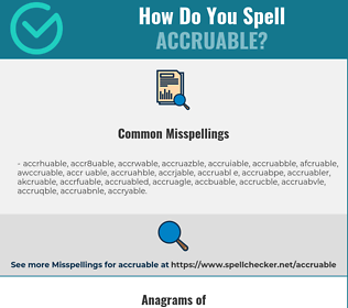 Correct spelling for accruable