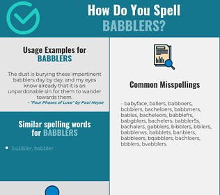 Correct spelling for babblers