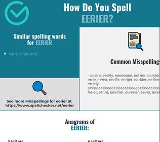 Correct spelling for eerier