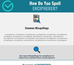 Correct spelling for encipherer
