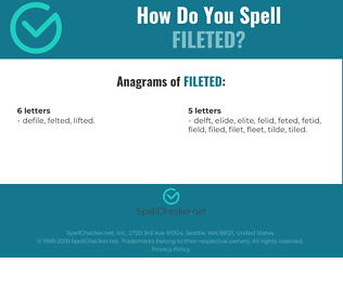 Correct spelling for fileted