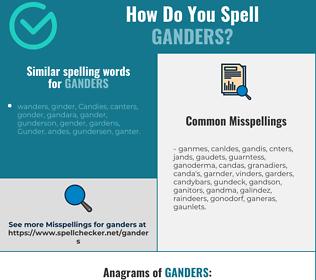 Correct spelling for ganders