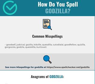 Correct spelling for Godzilla