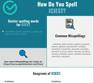 Correct spelling for iciest